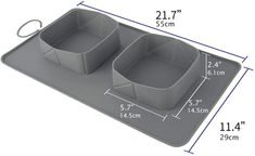 Pawaboo Pet Travel Food Bowls, Collapsible Roll Up Silicone Mat Dog Feeder Bowl with Secure Buckle, Portable Easy Storage Pet Feeding Accessories for Travel Camping Outdoors & More, Large Size, Gray: Amazon.de: Haustier Camping And Hiking, Camping Outdoors, Outdoor Camping, Dog Feeder, Food Bowl, Pet Travel, Easy Storage, Bowls, Filter