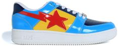 Buy and sell authentic Bapesta Color Block Low Yellow Navy Baby Blue shoes Sneakers and thousands of other BAPE sneakers with price data and release dates. Bape Shoes, Bape Sneakers, Shoes Sneakers, Baby Blue Shoes, Spring Street Style, Stella Mccartney Elyse, Color Blocking, Street Wear, Buy And Sell
