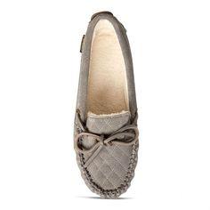 158307815 Old Friend Footwear - 340155 - Women s Molly Moccasin Slipper - Grey