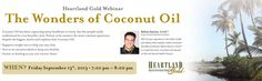 September webinar: The Wonders of Coconut Oil Healthy Tips, Coconut Oil, Healthy Living, Archive, September, Organic, Events, This Or That Questions, Learning