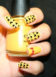 mickey nail polish! @Angela Perry... we should do this before we go!!!
