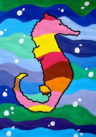 Links to colourful children's art Color Art Lessons, Art Lessons For Kids, Art Lessons Elementary, Art For Kids, Warm And Cold Colours, 2nd Grade Art, Elements Of Art, Art Classroom, Summer Art