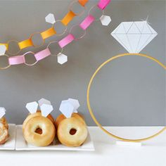 Diamonds are a fun theme for a DIY bridal shower. Lots of ideas for crafting up a party of your own!