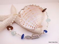 Sea Glass Anklet Beach Glass Jewelry Lake Erie by beachglassshop, $30.00