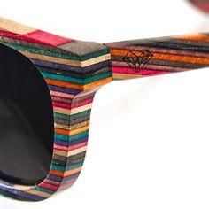 Recycled Skateboard Wood Sunglasses