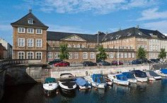 The Danish Nationalmuseet (National Museum) in Copenhagen by the Frederiksholm Canal