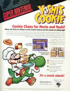 Yoshi's Cookie Super Nintendo Game ad