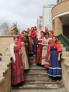 Russian traditional costume. Arkhangelsk region