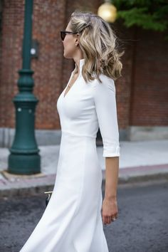 classic style ivory dress