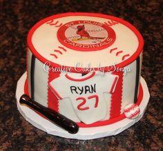 St Louis Cardinals Birthday Cake