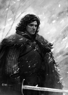 Jon Snow (my favorite character) - Game of Thrones - Andrea Meloni