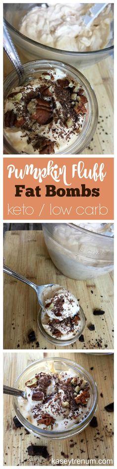 Pumpkin Fluff Fat Bombs/ Pumpkin Keto Recipe/ Pumpkin Recipe/ Keto Recipes/ Low carb Recipes / Low Carb Pumpkin Recipes / Fat Bomb Recipes /