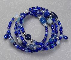 'Got the Blues Wrap Bracelet' is going up for auction at 3pm Tue, Jul 17 with a starting bid of $10.