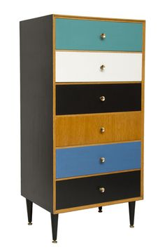 Mid Century Modern Painted Chest of Drawers