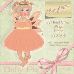 *Baby Pie* Fairytopia Toddleedoo Girls Whimsical Fairy Themed Complete Outfit