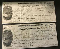 green Copper Range of Michigan Type 1-1950/'s Stock Certificates 10 Ten