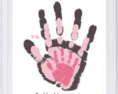 Your Families Prints Hand And Footprint Art Choose Colors And Text Grandma And Grandpa Gift Layered Handprint Wall Art 3 Prints Pap Your Families Prints Hand And Footprint Art By Myforeverprints Family Crafts, Baby Crafts, Toddler Crafts, Family Art Projects, Toddler Art, Kid Crafts, Grandpa Birthday Gifts, Grandpa Gifts, Baby Footprint Art