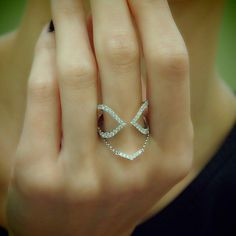 """""""Arch Parenthesis"""" Diamond Open Ended Ring - Plukka - Shop Fine Jewelry Online"""