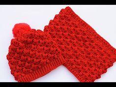 Crochet For Beginners Cuello bufanda a juego con gorro a crochet muy facil Majovel Crochet Hooded Scarf, Crochet Cap, Crochet Baby Hats, Crochet Beanie, Crochet Hooks, Beginner Crochet Tutorial, Crochet Patterns For Beginners, Diy Hat, Afghan Crochet Patterns