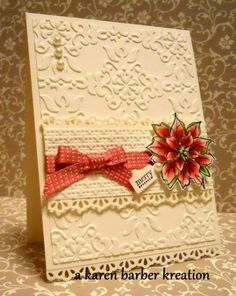 CC393 -A PRIMROSE POINSETTIA by Karen B Barber - Cards and Paper Crafts at Splitcoaststampers