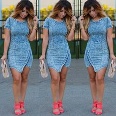 Fashion: jean dress