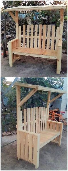 This is so unique looking bench design of the wood pallet which you would be finding so amazing. The bench is perfect for the outdoor arrangement of the house that add a classy finishing into the whole outdoor garden areas of the house.