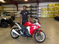Thanks to MacArthur Doss from Hattiesburg MS for getting a 2012 Honda CBR 250R at Hattiesburg Cycles