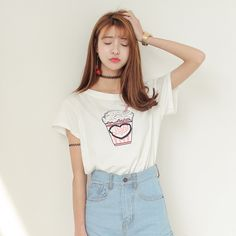 Cheap T-Shirts, Buy Directly from China Suppliers:2015 new fashion women's Harajuku style prints MILK thin loose tee girlfriends and sisters t-shirt gift for womenUS $ 5.