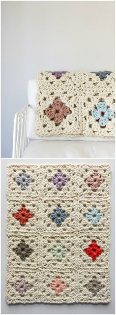 I show you some of the best free #crochet #Blankets patterns that will really inspire you to try them out with your own hands!Granny Square Blanket in Gentle Giant