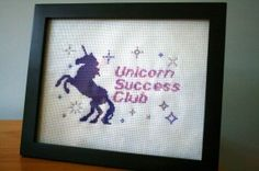 Free Bloggess Cross Stitch Patterns - Unicorn Success Club. Oh yes I will. /via Hugs are Fun