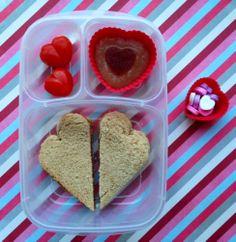 Healthy Valentine's Bento Box
