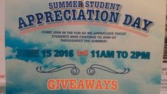 Are you a student working at SLC this summer? Putting our students first with a free food and a fun event just for you!