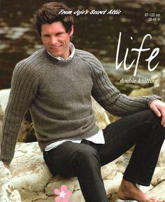 PDF DK Knitting Pattern Men's Sweater 8420 by CaledonianSpirit on Etsy Double Knitting Patterns, Jumper Knitting Pattern, Knitting Yarn, Crochet Patterns, Weaving Patterns, Mens Knit Sweater, Burda Style Magazine, Mens Jumpers, Knitting Projects