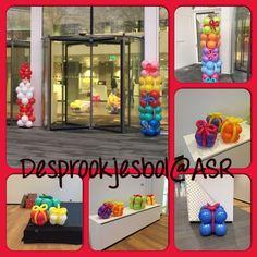Sinterklaas viering bij ASR Utrecht ballonnen decoratie gemaakt door de versierders van de sprookjesbol Bunschoten Spakenburg
