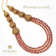 Laxmi haaram with rubies