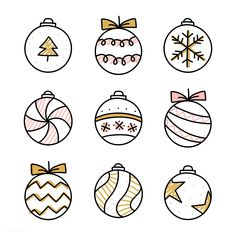 Christmas is coming and you may want to write your bullet journal or handmade Christmas card, then you must need these Christmas doodles! These Christmas doodles are cute and teach you step by step how to draw them perfectly, so you can learn easily. Christmas Doodles, Diy Christmas Cards, Christmas Baubles, Christmas Art, Simple Christmas, Christmas Decorations Drawings, Easy Christmas Drawings, Vector Christmas, Merry Christmas Eve