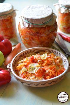 Salata de toamna la borcan Cooking Recipes, Mexican, Ethnic Recipes, Food, Canning, Salads, Eten, Meals