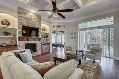 The Valencia II model living area by Dream Finders Homes of The Palms at Nocatee