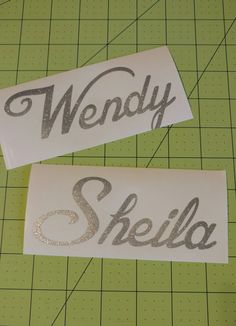 Personalized Name Decal  - 111F by DesignsByLaurieann on Etsy