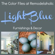 Looking for color inspiration? Check out Remodelaholic's inspiration files for rooms and furnishings in LIGHT BLUE via Joanne Svendsen onto Colour Files-DIY Painting. Light Blue Paint Colors, Light Blue Paints, Best Paint Colors, Wall Colors, Paint Color Schemes, Cool Paintings, House Painting, Painting Tips, Cool Lighting