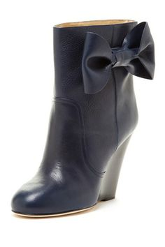 Bow Wedge Ankle Boot