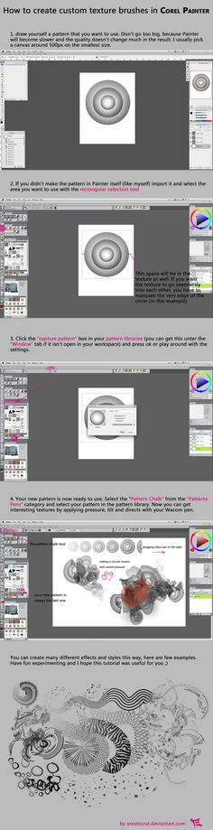 Corel Painter: How to create a Pattern Brush by arestocrat on DeviantArt