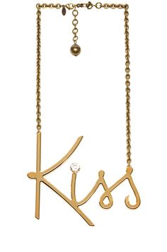Lanvin|Brass Kiss Necklace in Gold