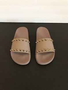 d9b53b7c4 Valentino Garavani Rockstud Slide Sandals EU 38 Beige  fashion  clothing   shoes  accessories  womensshoes  sandals (ebay link)