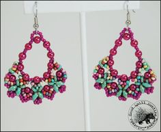 Hot Pink BE Earrings