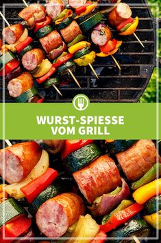 You can find the recipe for grilled sausage skewers here. Healthy Grilling Recipes, Kebab Recipes, Barbecue Recipes, Barbecue Grill, Easy Chicken Kebab Recipe, Greek Chicken Kabobs, Grilled Chicken Skewers, Beef Kabob Marinade, Steak Kabobs