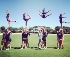 Basket Tosses | ... cheer cheerleading stunt stretch Basket heel scorpion allstar toss