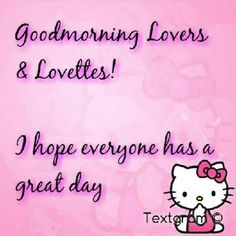 Good Morning Lovers & Letters