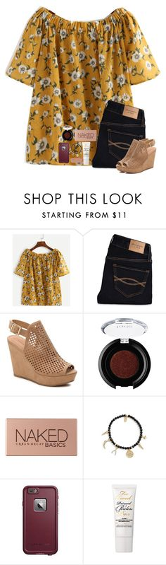 """old draft that I never posted"" by hailstails ❤ liked on Polyvore featuring Abercrombie & Fitch, Chinese Laundry, tarte, Urban Decay, Ettika, LifeProof and Too Faced Cosmetics"