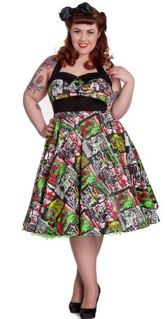 B-Movie 50's Dress by Hell Bunny : Plus Size : Free Delivery in Australia [4141_PLUS]